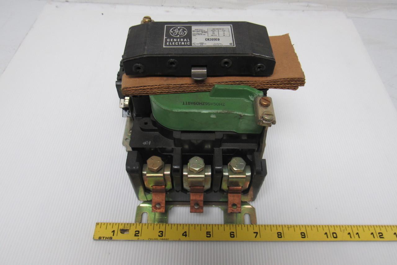 General Electric Cr205e0 Size 3 Motor Starter 600v 100a 120v Coil
