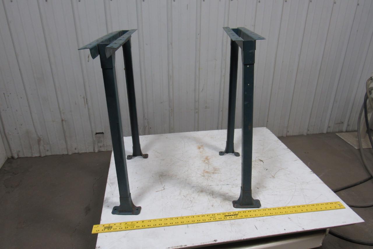 Industrial Steel Shop Table Legs Workbench Conveyor Legs 31 1 4 Tall Lot Of 2 Ebay