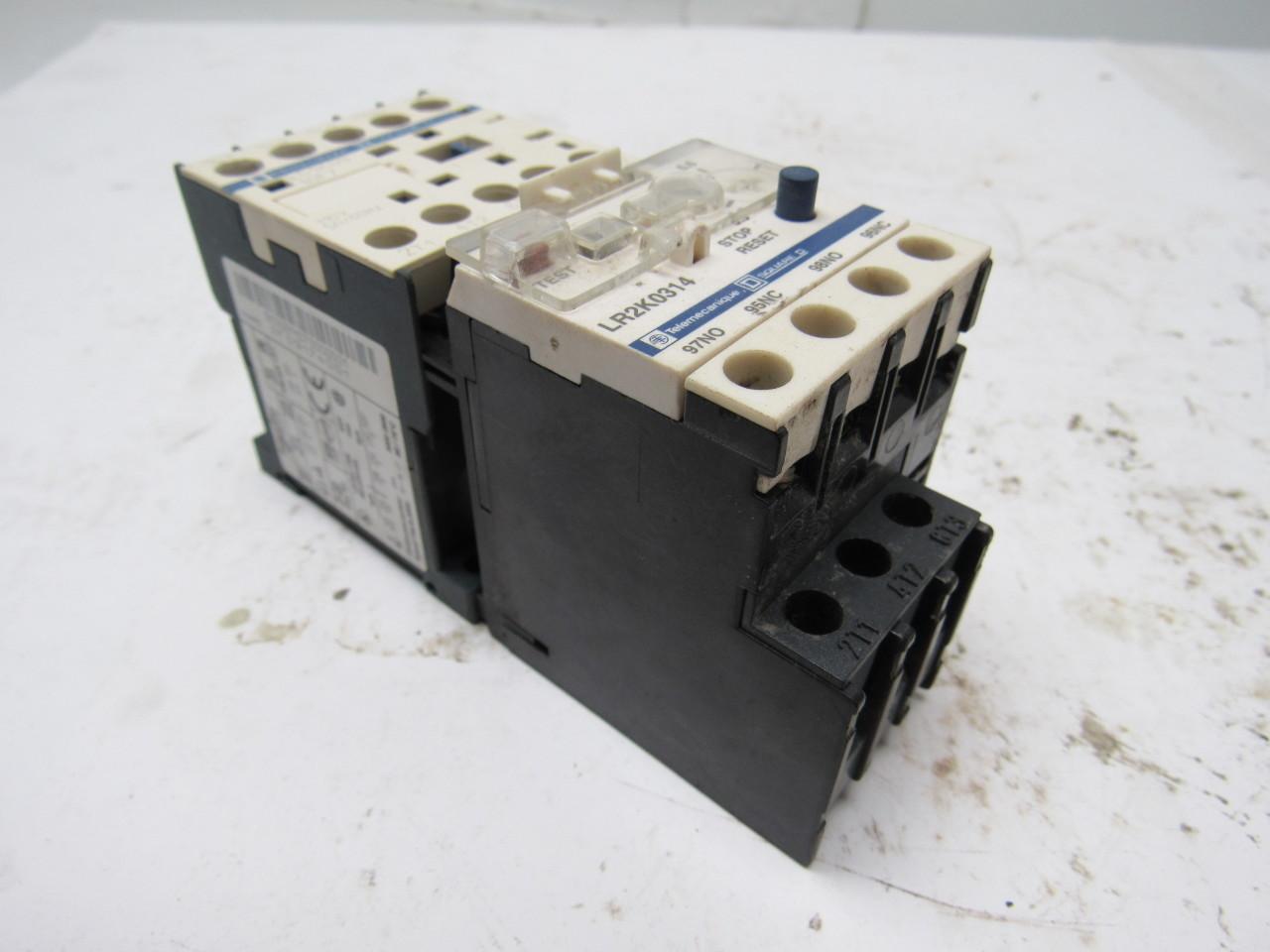 Square D Telemecanique LC1K09 3 Pole 9 Amp Miniature Contactor  #4A6081