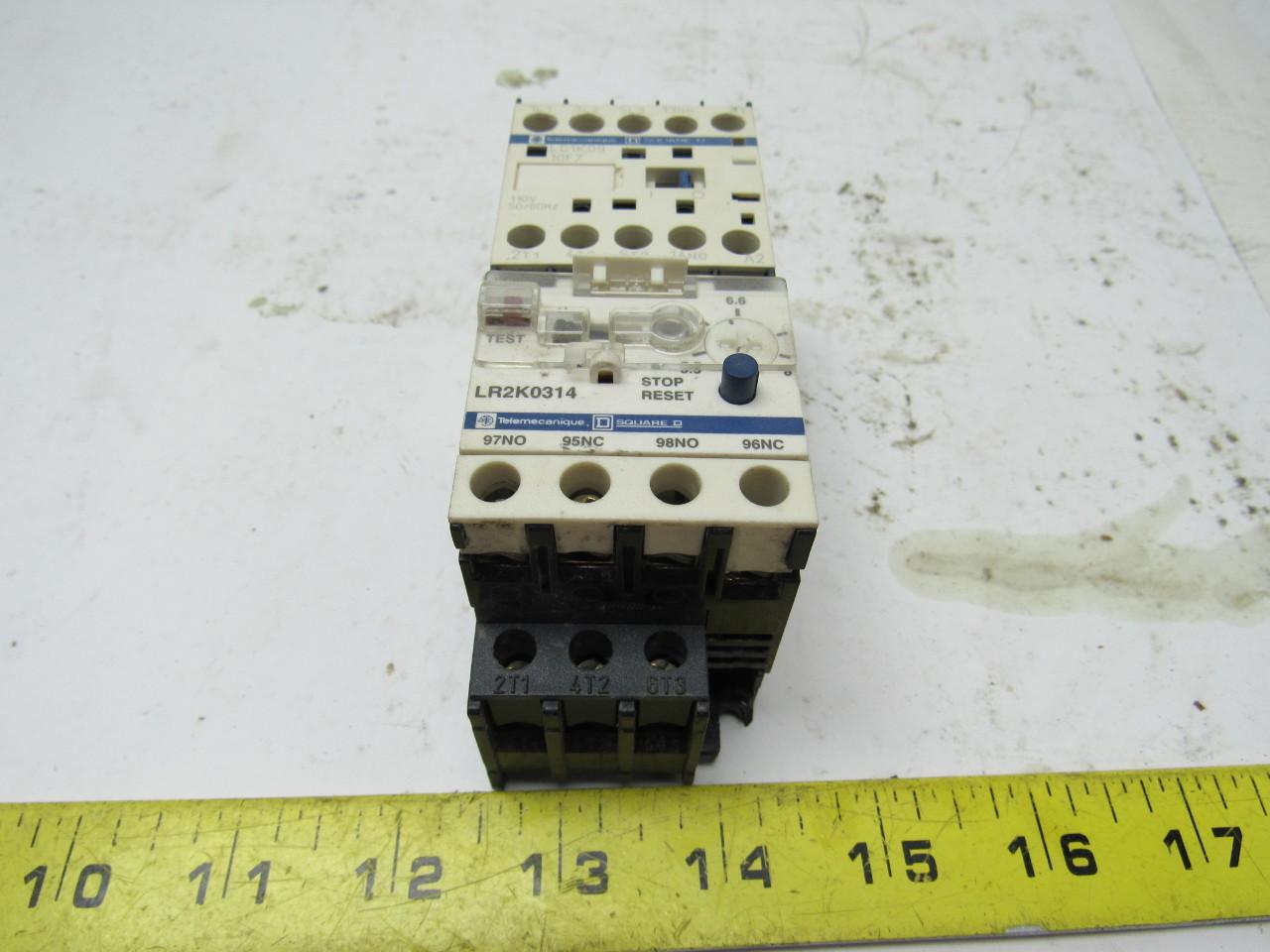 Square D Telemecanique LC1K09 3 Pole 9 Amp Miniature Contactor  #9A9F2C