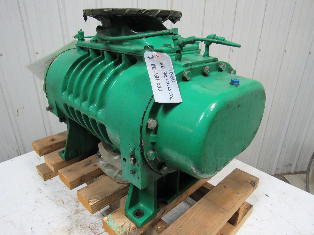 Positive Displacement Blower : Mgd pneumatics h quot positive displacement