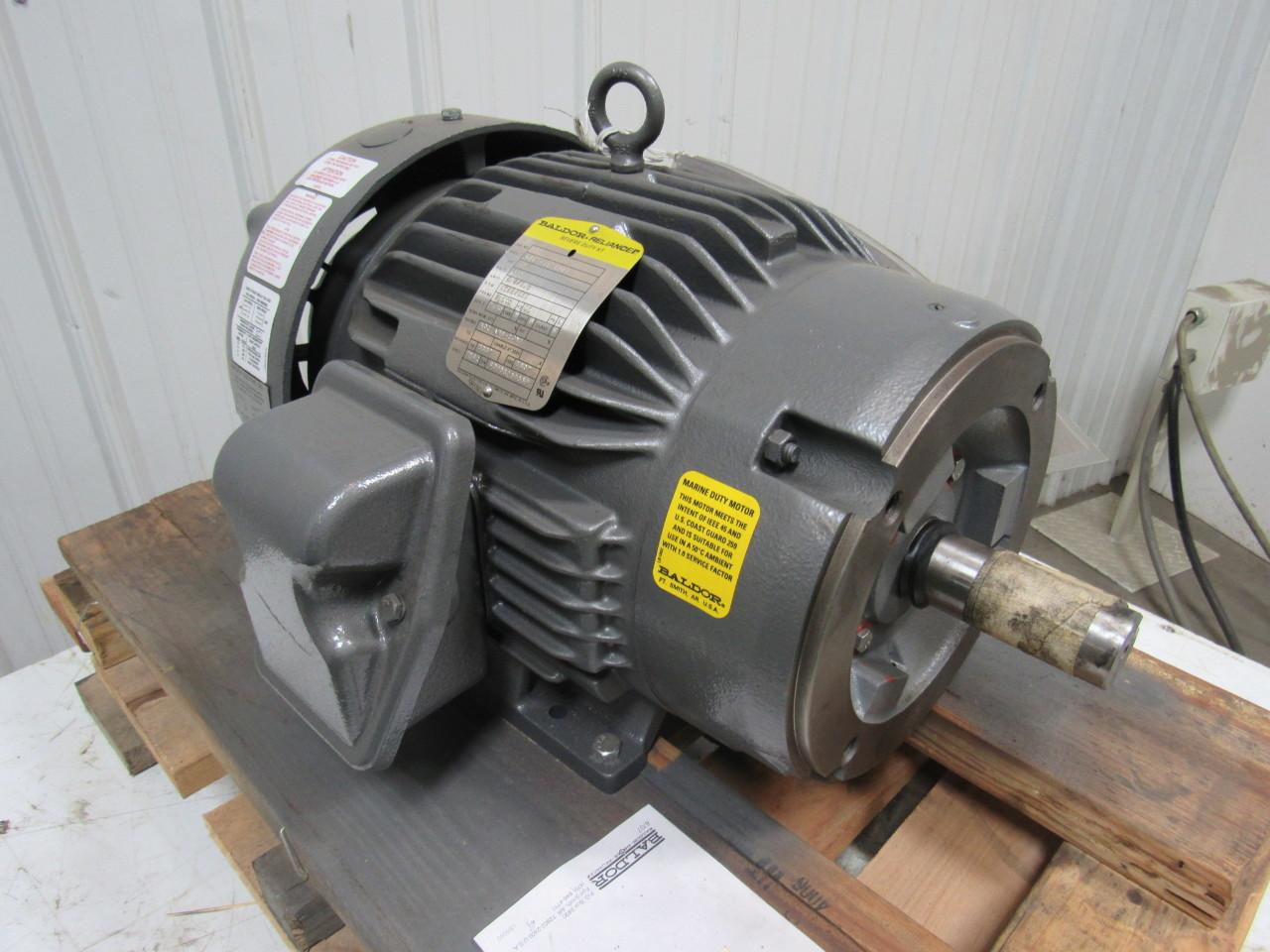 Baldor 07k373w242g1 2 Speed Electric Motor 3 1 5 Hp 1725