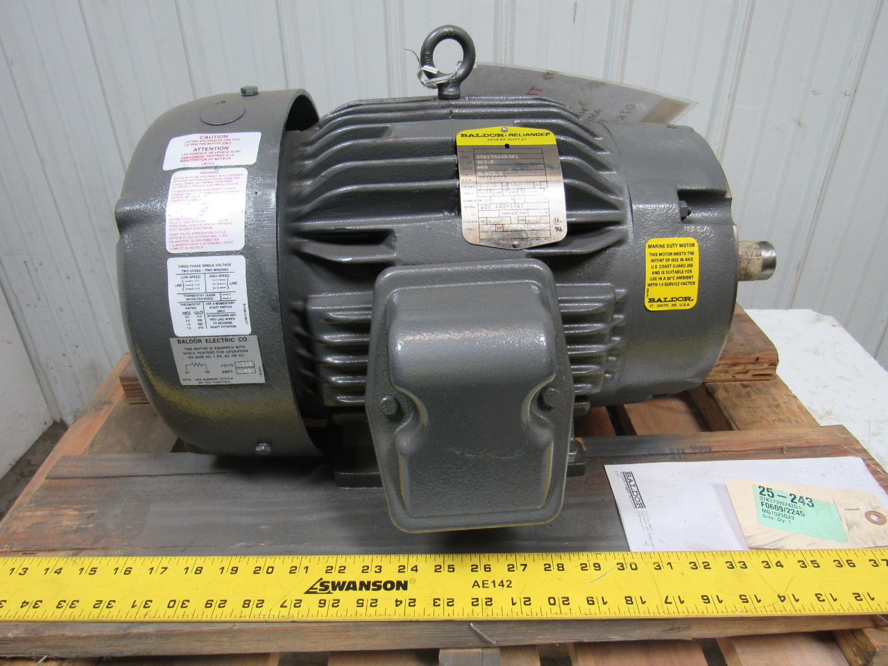 Baldor 07k373w242g1 2 speed electric motor 3 1 5 hp 1725 for Dc motor 1 3 hp