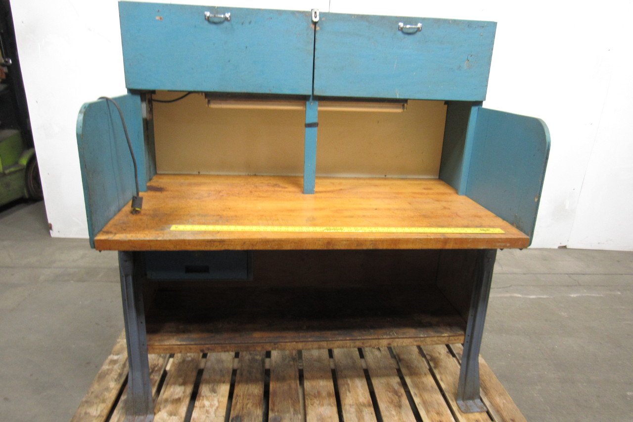 industrial butcher block work bench table station stool