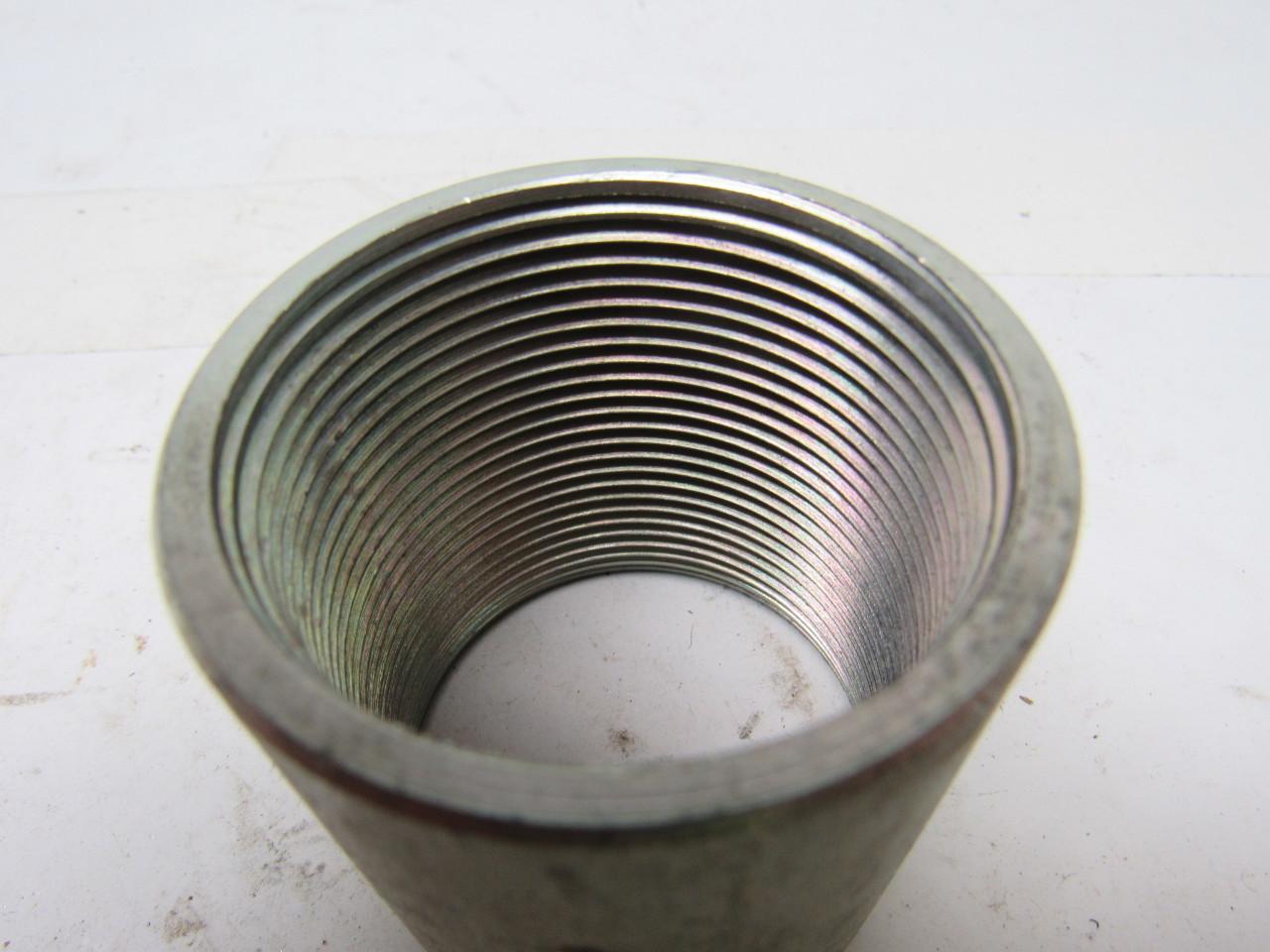 1 2 Quot Threaded Steel Couplers : Quot npt threaded one piece rigid steel conduit coupling