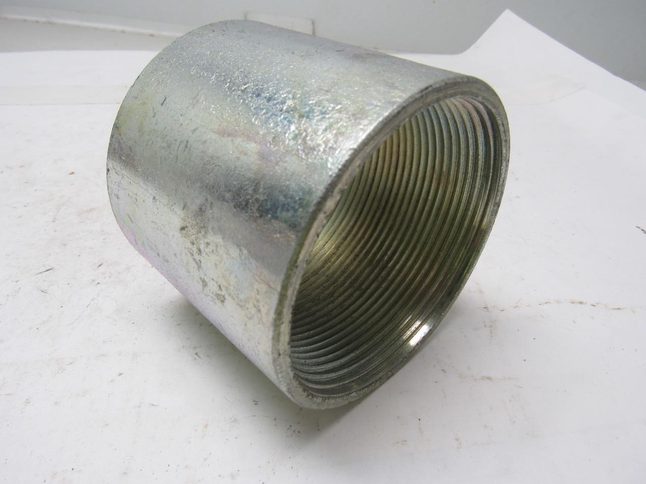 Quot npt threaded one piece rigid steel conduit coupling