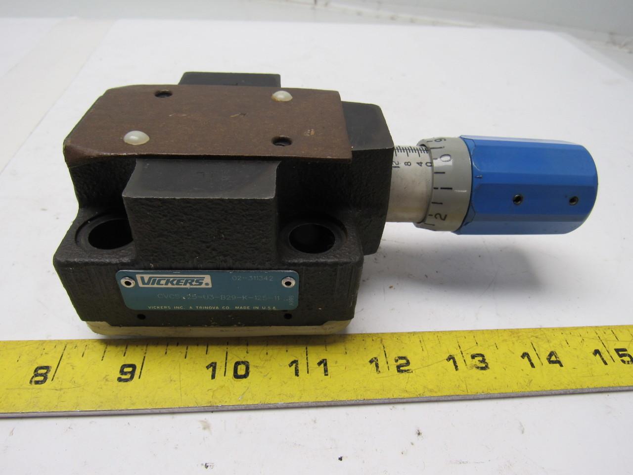 VICKERS CVCS-25-U3-B29-K-125-11 02-311342 Hydraulic Control Valve