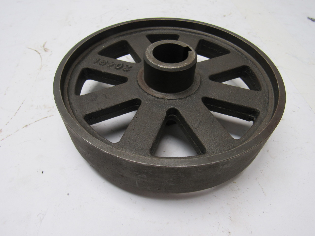 Cast Iron Pulleys For Sale : Cast iron pulley wheel sheave quot dia bore keyed