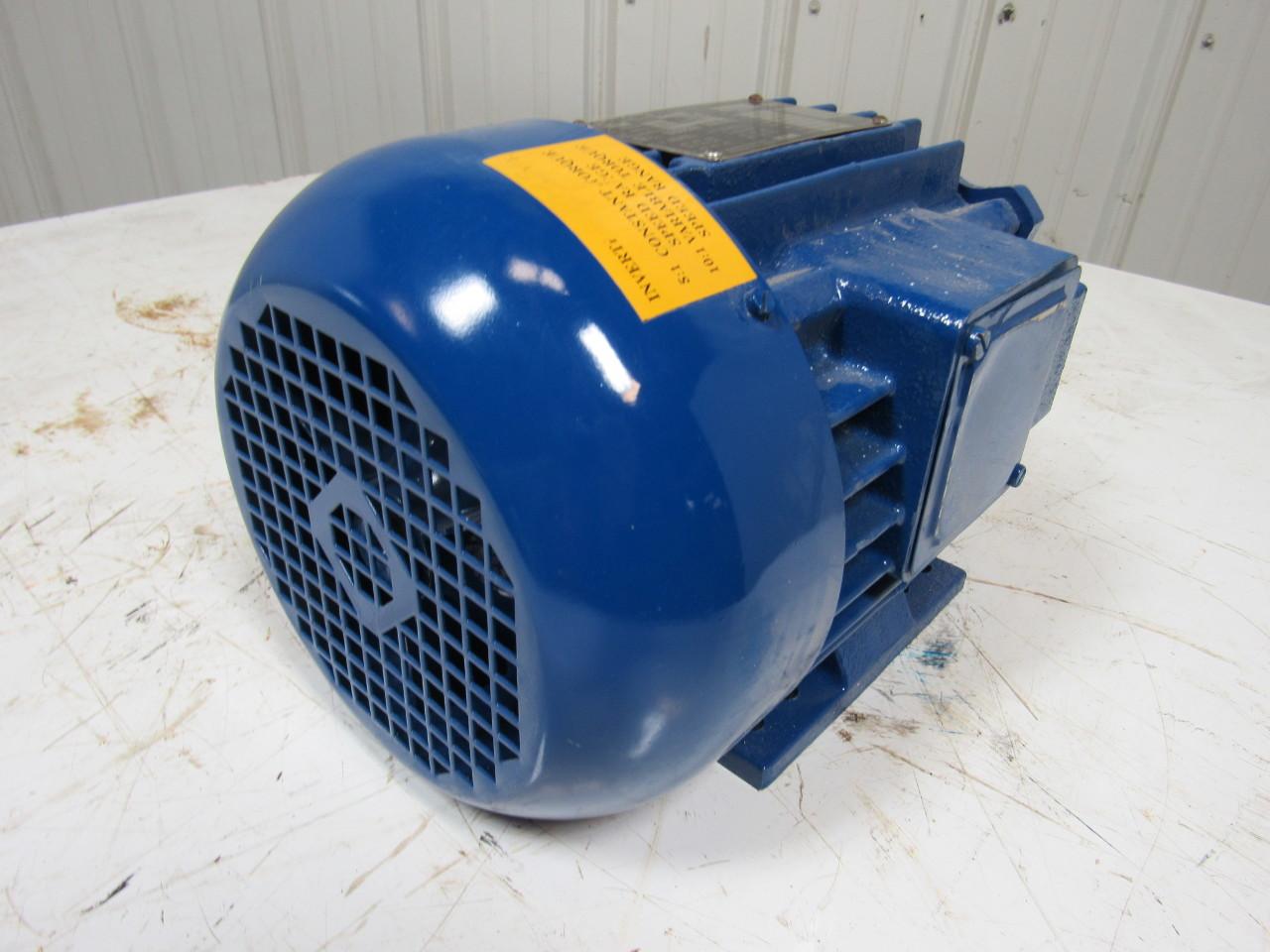 Elektrim esg 1 5hp electric motor 3ph 3500rpm ebay for 5hp 3ph electric motor