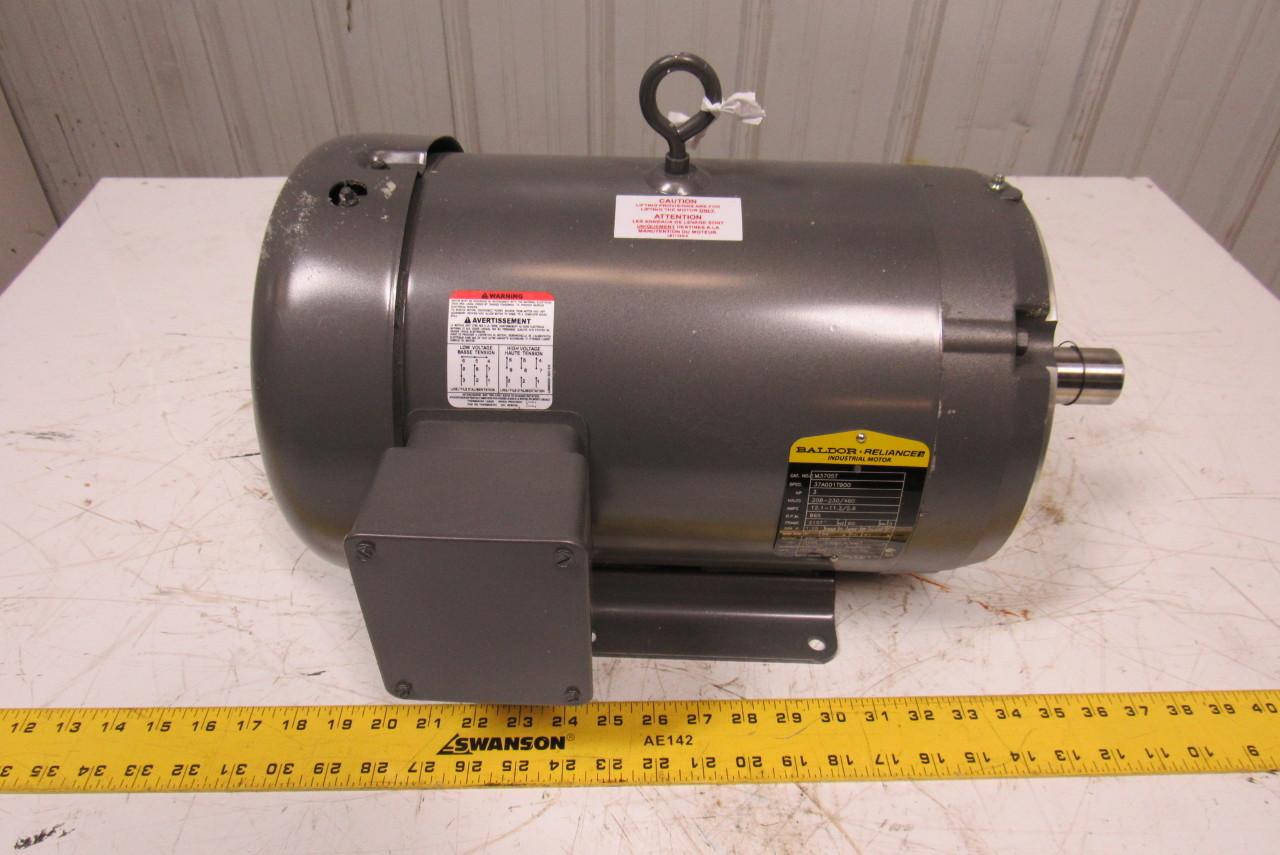 Baldor M3705t Electric Motor 3ph 3hp 865rpm Ebay
