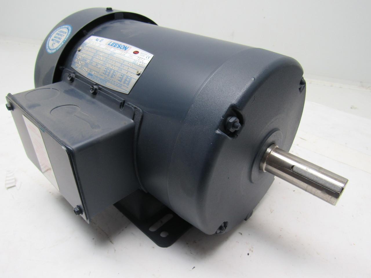 Leeson electric c145t34fb25b 1 5hp 208 230 460v 3ph 3490 for 5hp 3ph electric motor