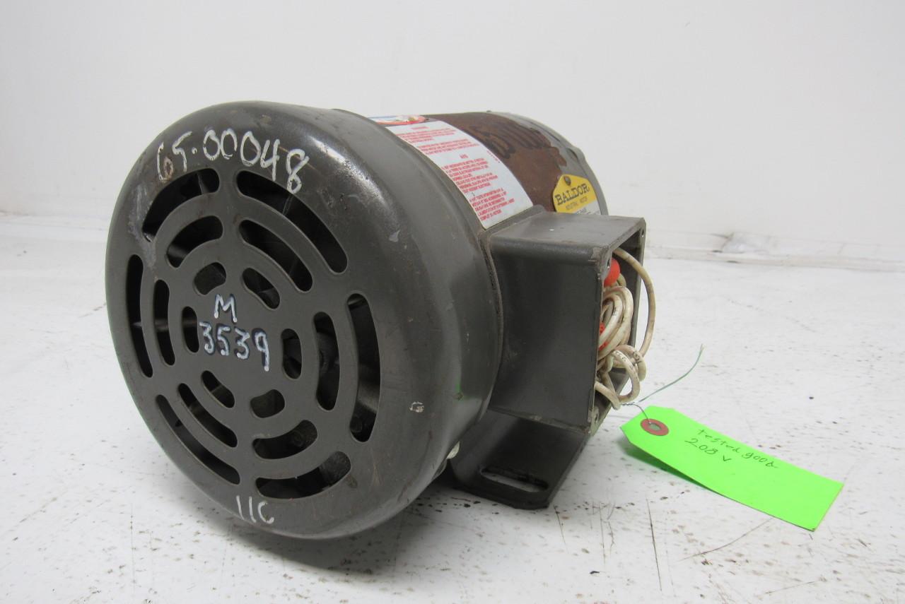 Baldor M3539 Electric Motor 1 2 Hp 3ph 1140rpm Ebay