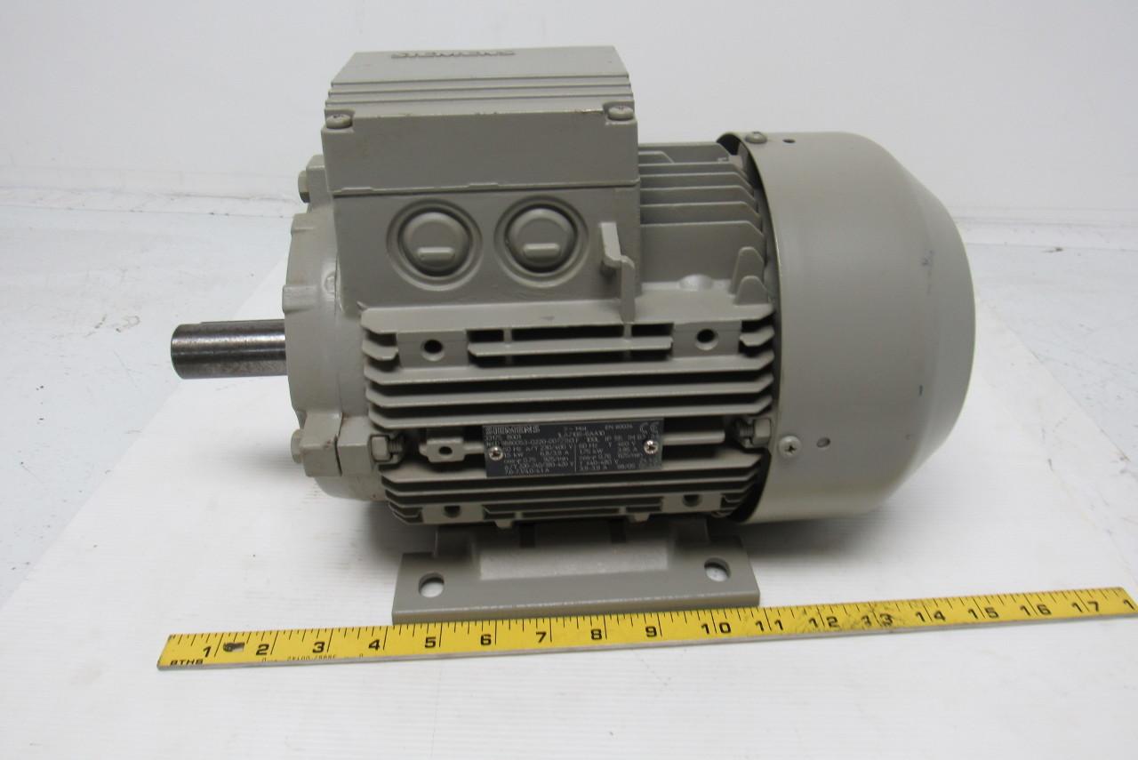 Siemens 1la7106 6aa10 Electric Motor 3ph 1000rpm 230 400