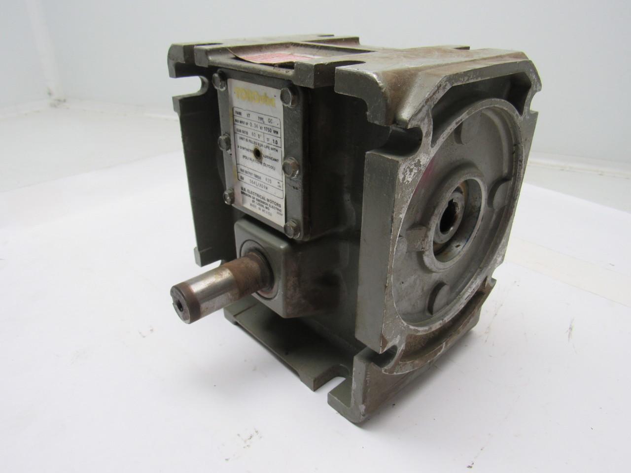 us motors 5641 a09m torqube gearbox speed reducer 60 1