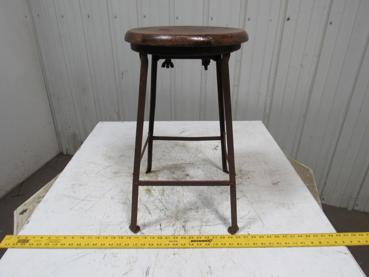Vintage Steampunk Industrial Style Bar Stool Chair Angel  : 107670 vintage steampunk industrial style stool angel iron frame wooden seat from www.ebay.com size 1280 x 960 jpeg 229kB