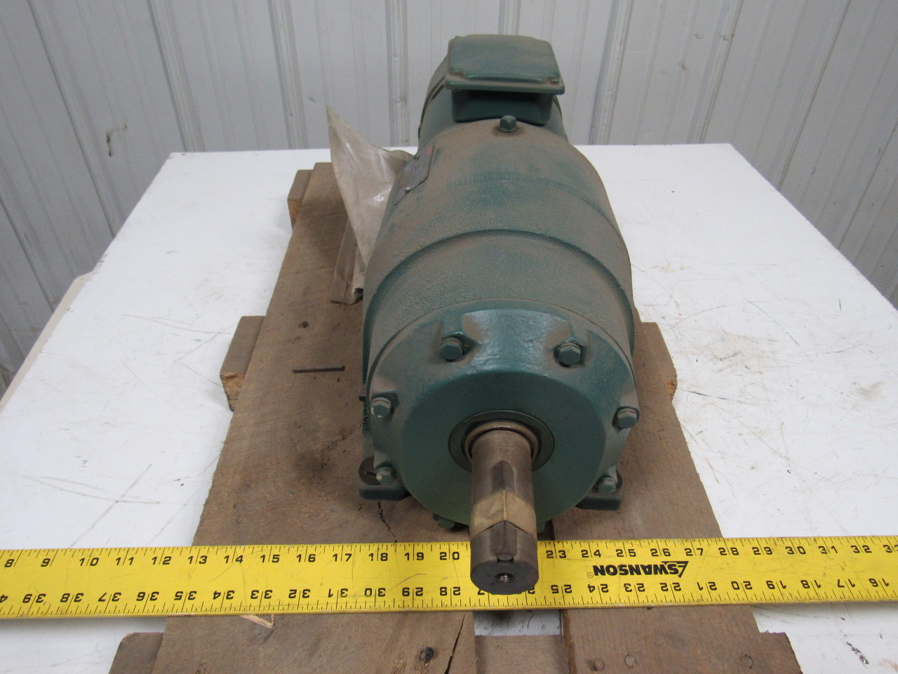 Reliance electric dodge b78k7050n fa 1 3 hp motor with 129 for Reduction gearbox for electric motor