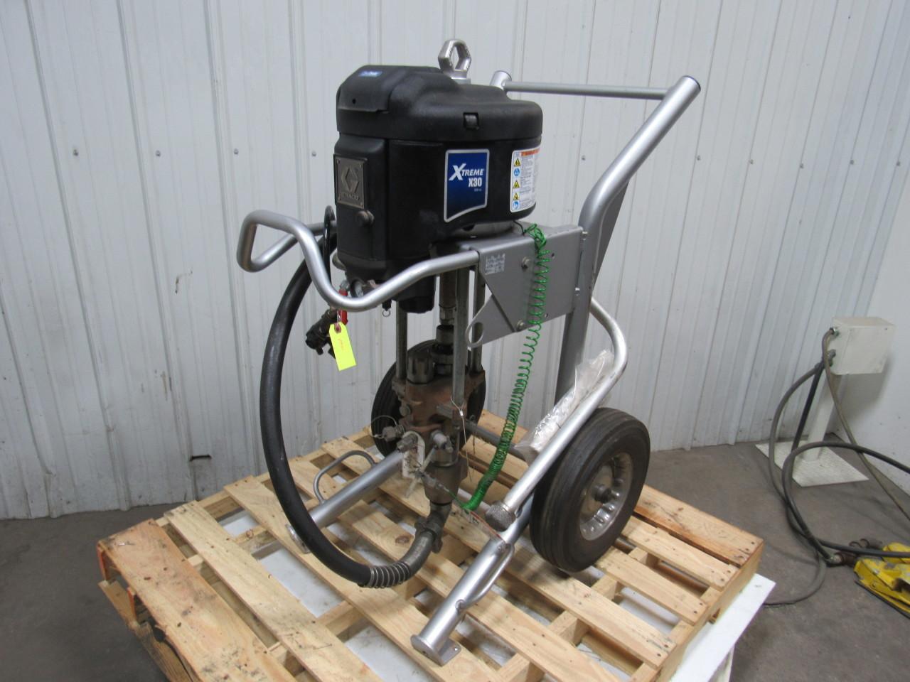 Airless Spraygun Manufacturers Mail: GRACO X30DH1 Xtreme Airless Sprayer W/ Data Trak & HD Cart