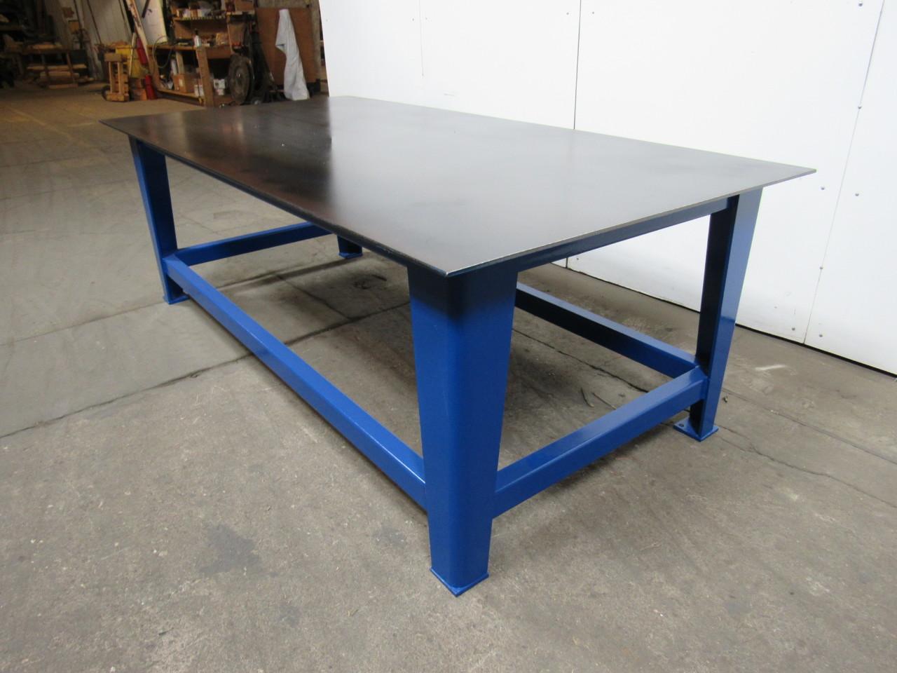 48 X96 X33 Heavy Duty Steel Welding Layout Assembly Work Bench Table New Ebay