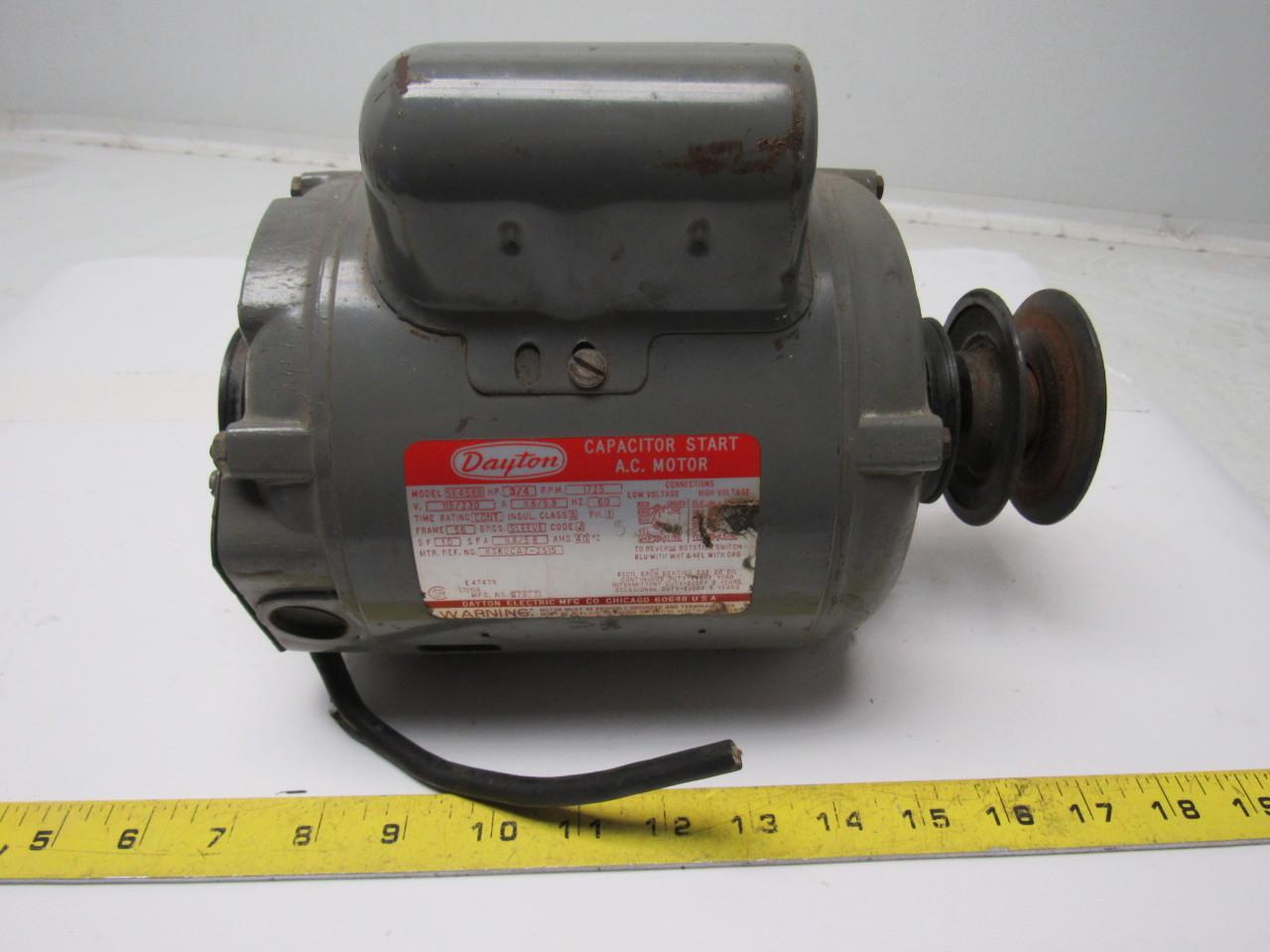 dayton 5k458b 3/4 hp 1725 rpm electric motor | ebay 1 2 hp electric motor wiring dayton 3 4 hp electric motor wiring #9