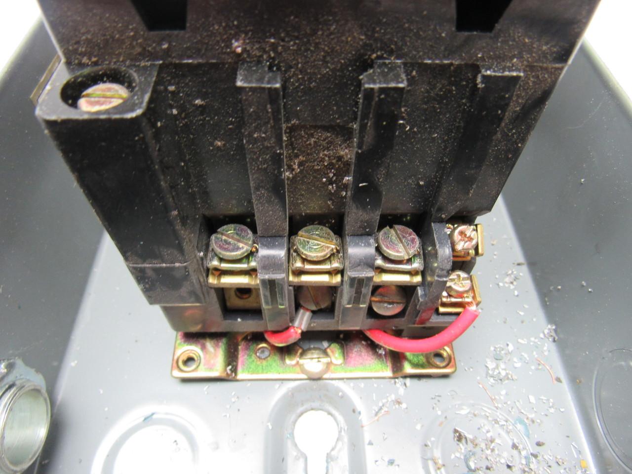 Square d 8536scg3 motor starter 240v nema size 1 w 30072 for Square d motor starter sizing chart