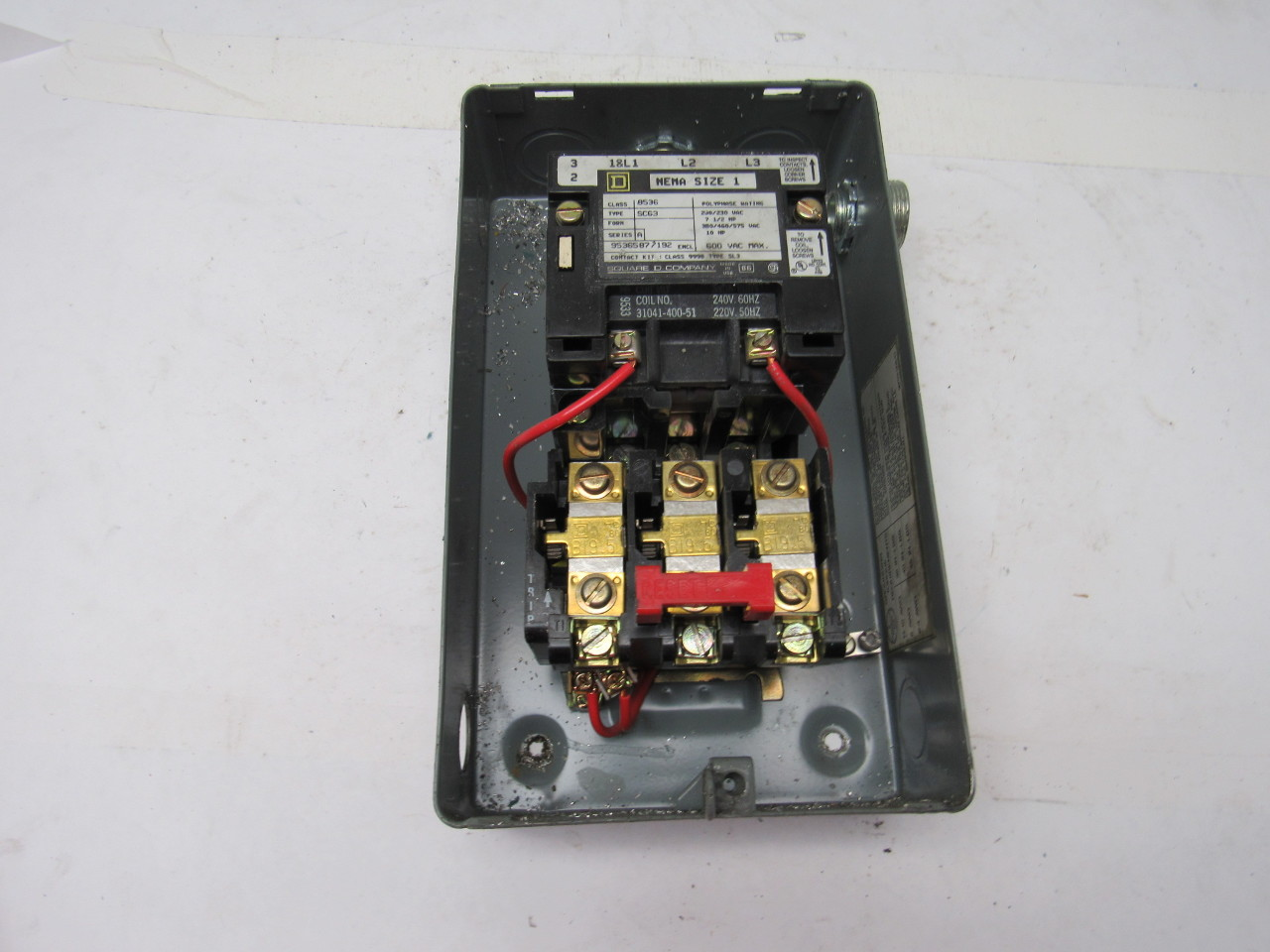 Square D 8536scg3 Motor Starter 240v Nema Size 1 W 30072