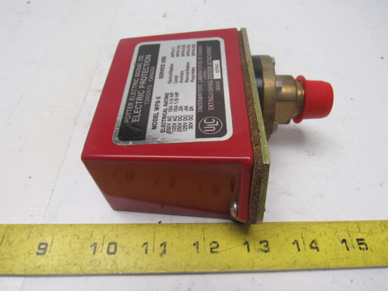 Potter electric wfs water flow switch fire alarm
