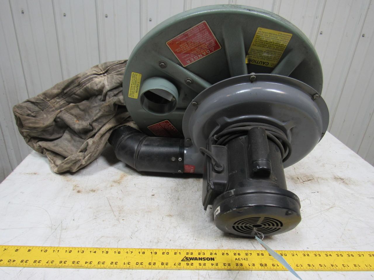 Cincinnati 1 z967 s50 1 2hp dust collector 55 gallon drum for Dust collector motor blower