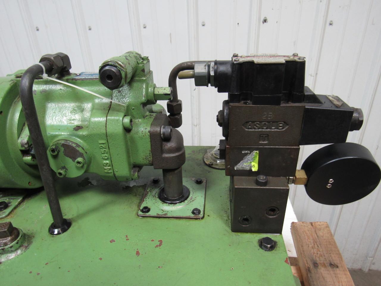 Daikin v15a1ry 85 hydraulic pump w 12 gallon tank 220v for Hydraulic pump with motor