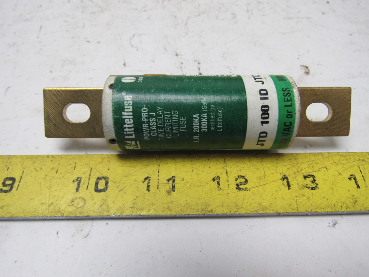Littelfuse Jtd 100 Id Indicator Time Delay Fuse 100 Amp 600v Class J Lot Of 11