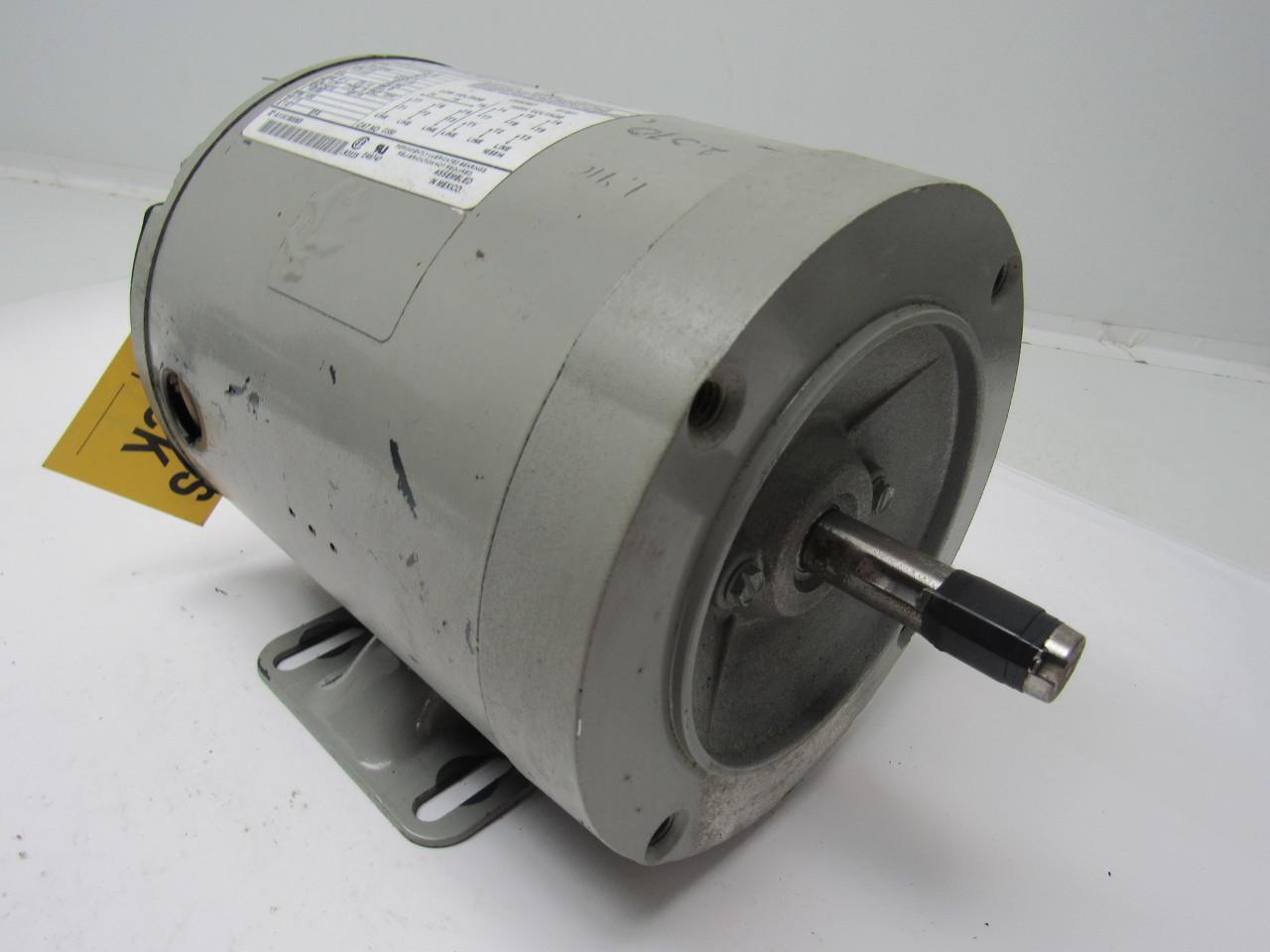 Marathon electric kva 56t17t5305e k 1 4 hp 208 230 460v for 1 hp electric motor 1725 rpm