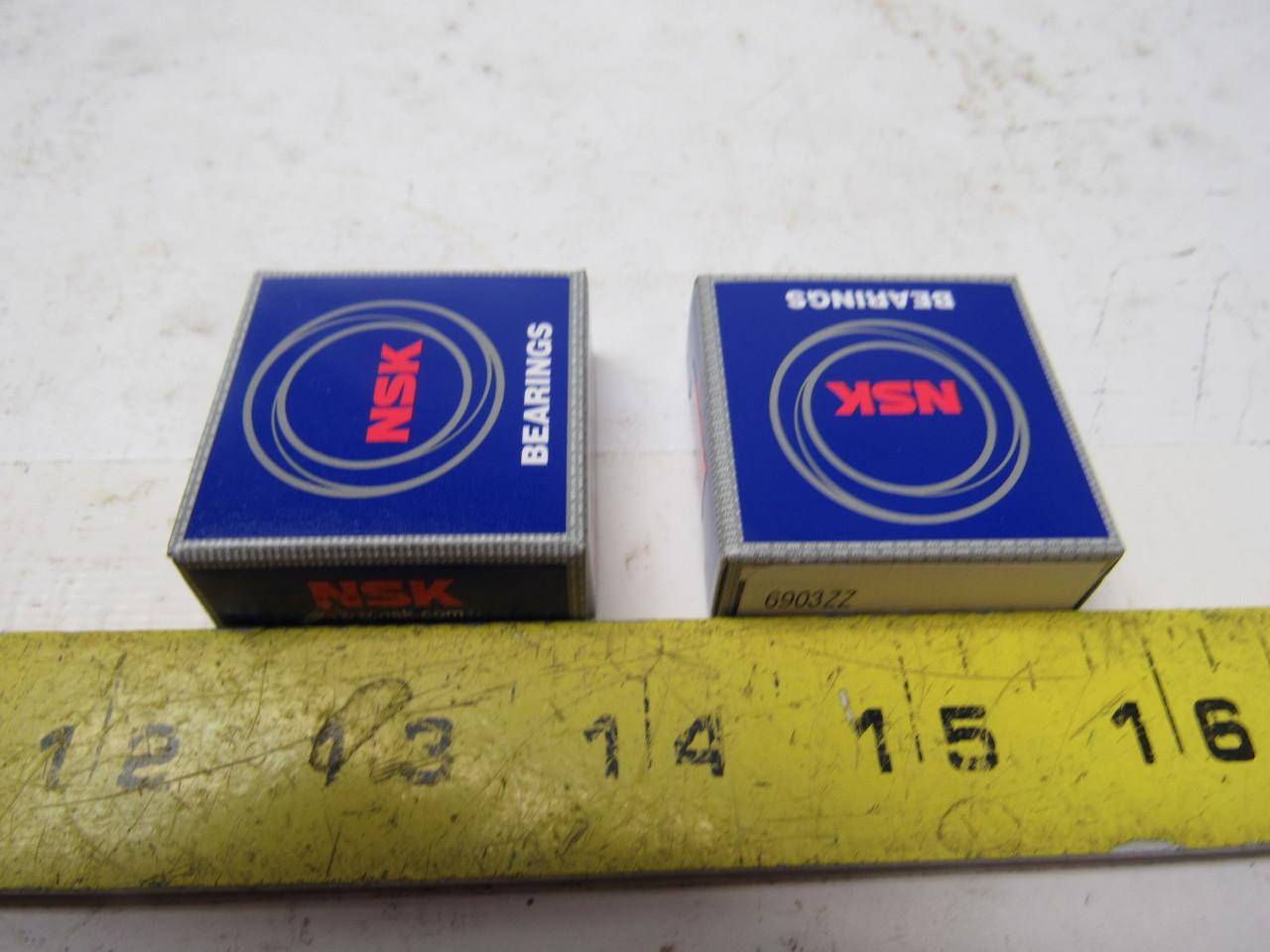 NSK 6903zz Metal Shielded Single Row Ball Bearing Lot of 2