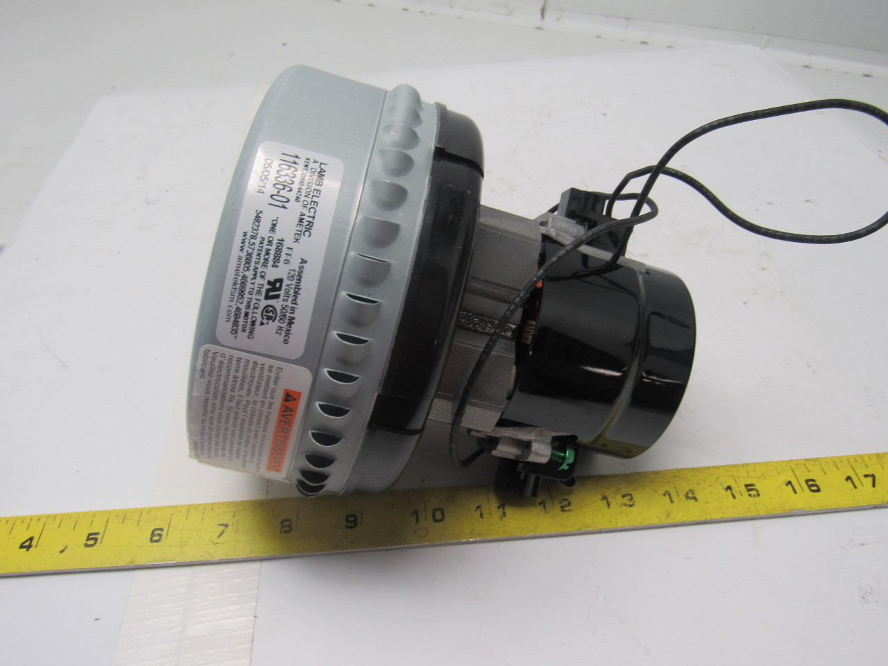 Ametek 116336 01 lamb electric motor 120 volt 50 60 hz for 120 volt ac motor