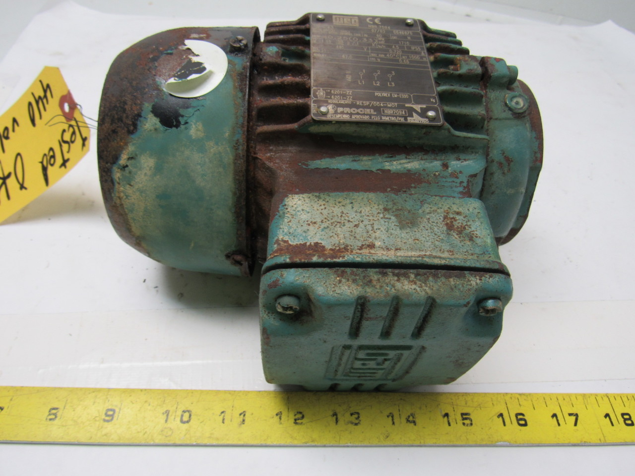 Weg Electric Induction Motor Squirrel Cage 440v 3ph