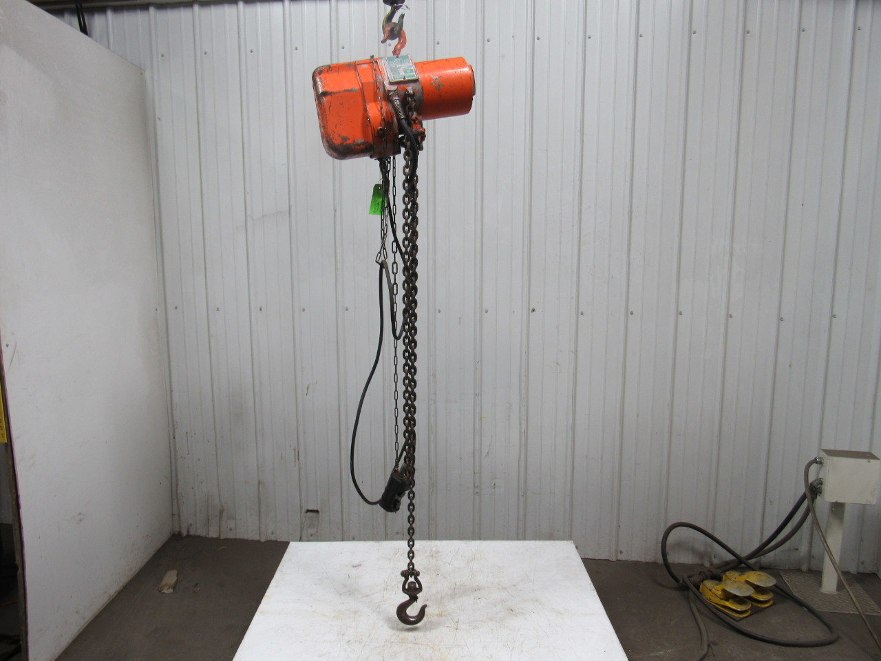 Yale Pl253fmpgn Midget King Electric Chain Hoist 1000lb