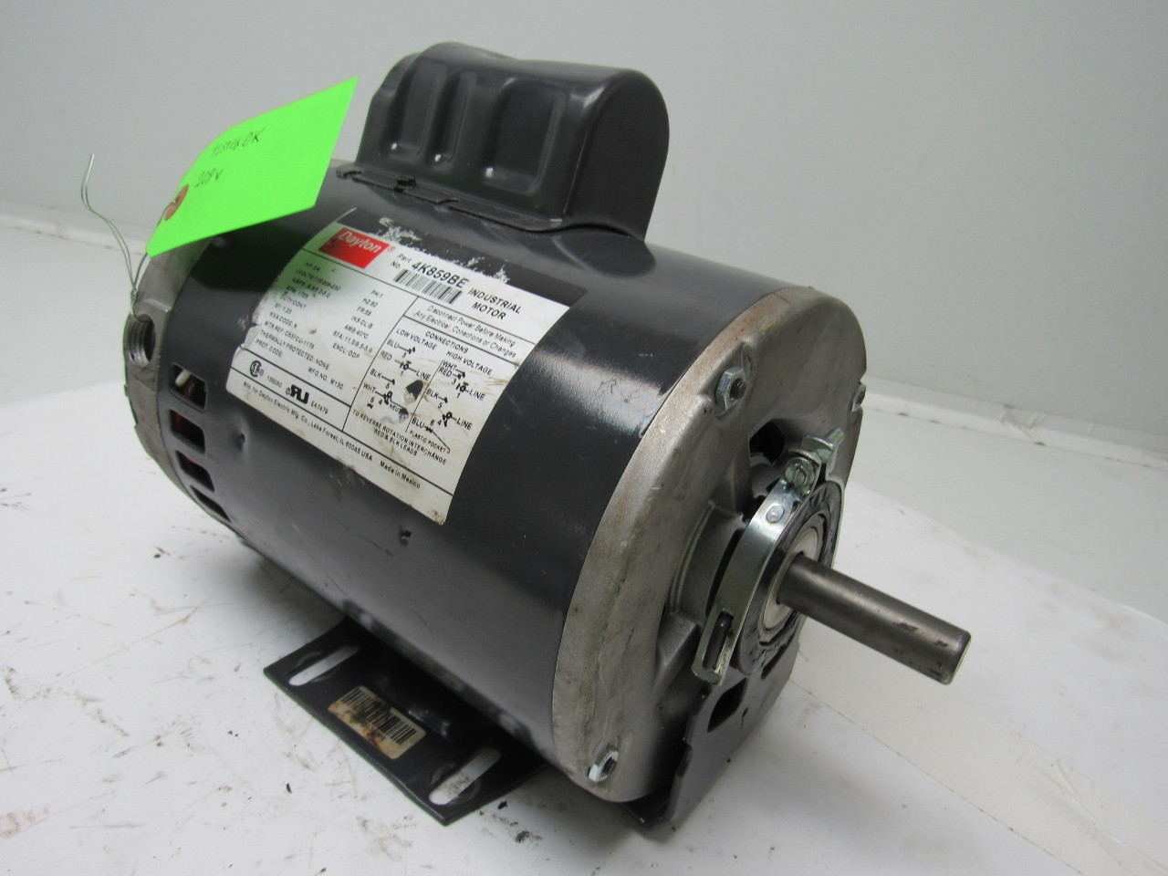 Dayton 4k859be 3 4 Hp Electric Motor Capacitor Start 115