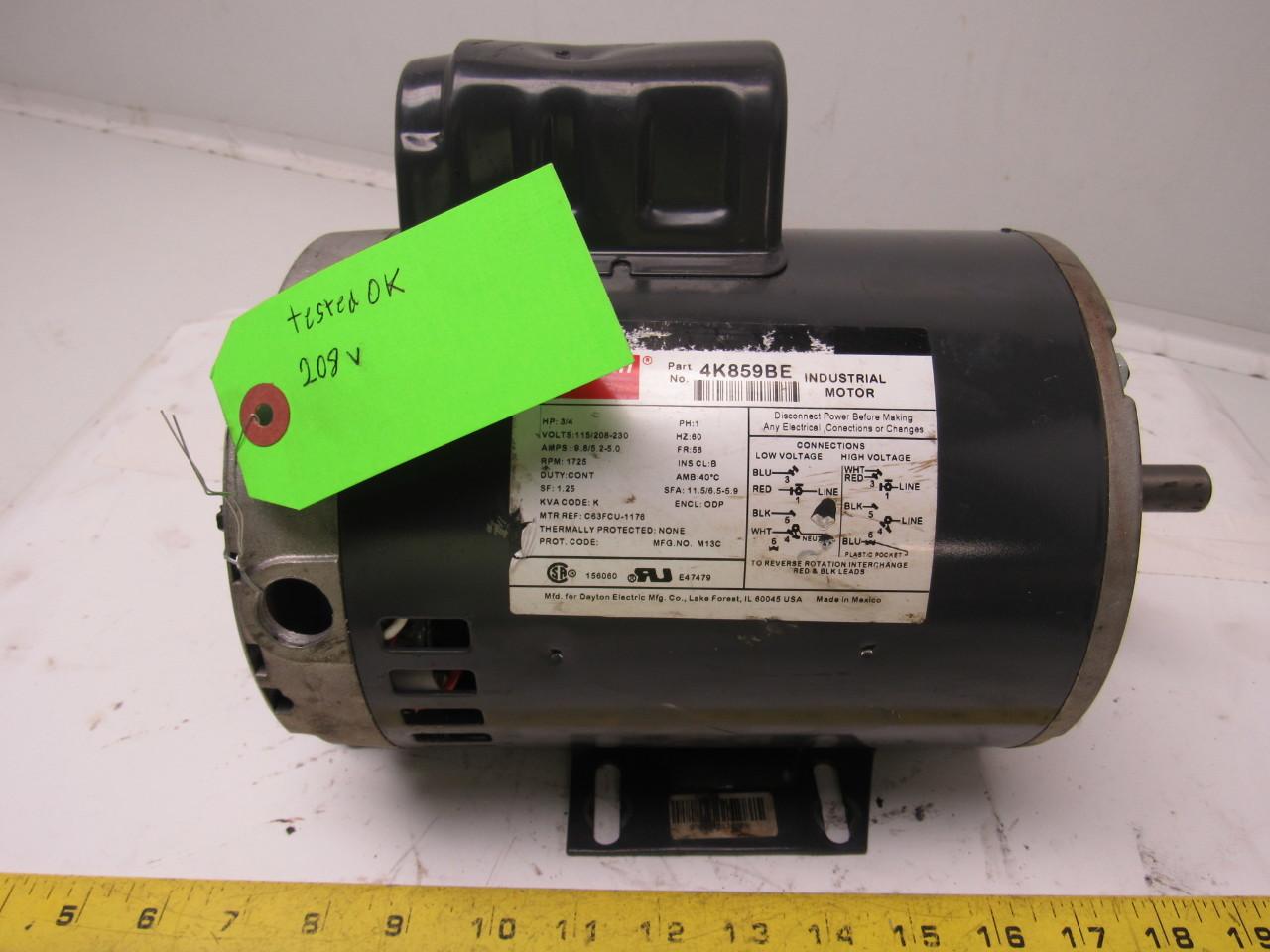 dayton 4k859be 3/4 hp electric motor capacitor-start 115 ... dayton 3 4 hp electric motor wiring baldor 5 hp electric motor wiring diagram