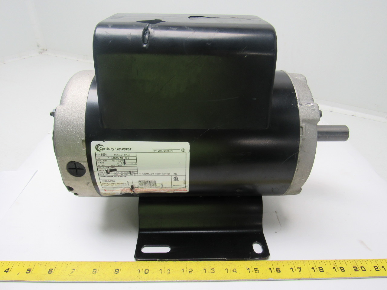 Century B384 5 Hp Air Compressor Electric Motor Capacitor