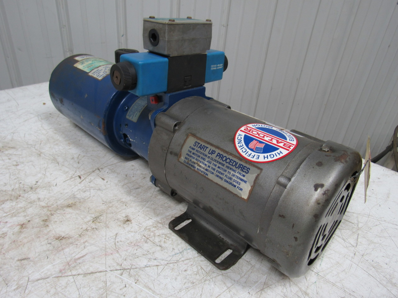 Dyna pack m405 monarch hydraulic pump unit w baldor 1hp for How to size a hydraulic pump and motor