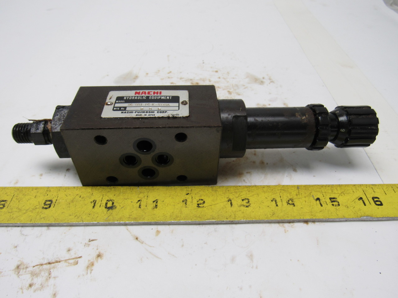 Nachi 0G-G01-PC-K-5749A Hydraulic Pressure Reducing Modular Valve