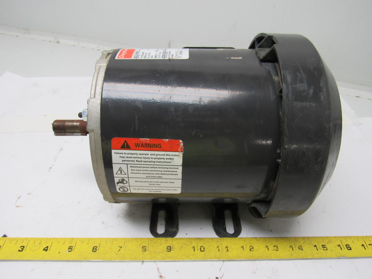 Dayton 2n866ba electric motor 3 4 hp 208 230 460v 3 phase for 56 frame motor shaft size
