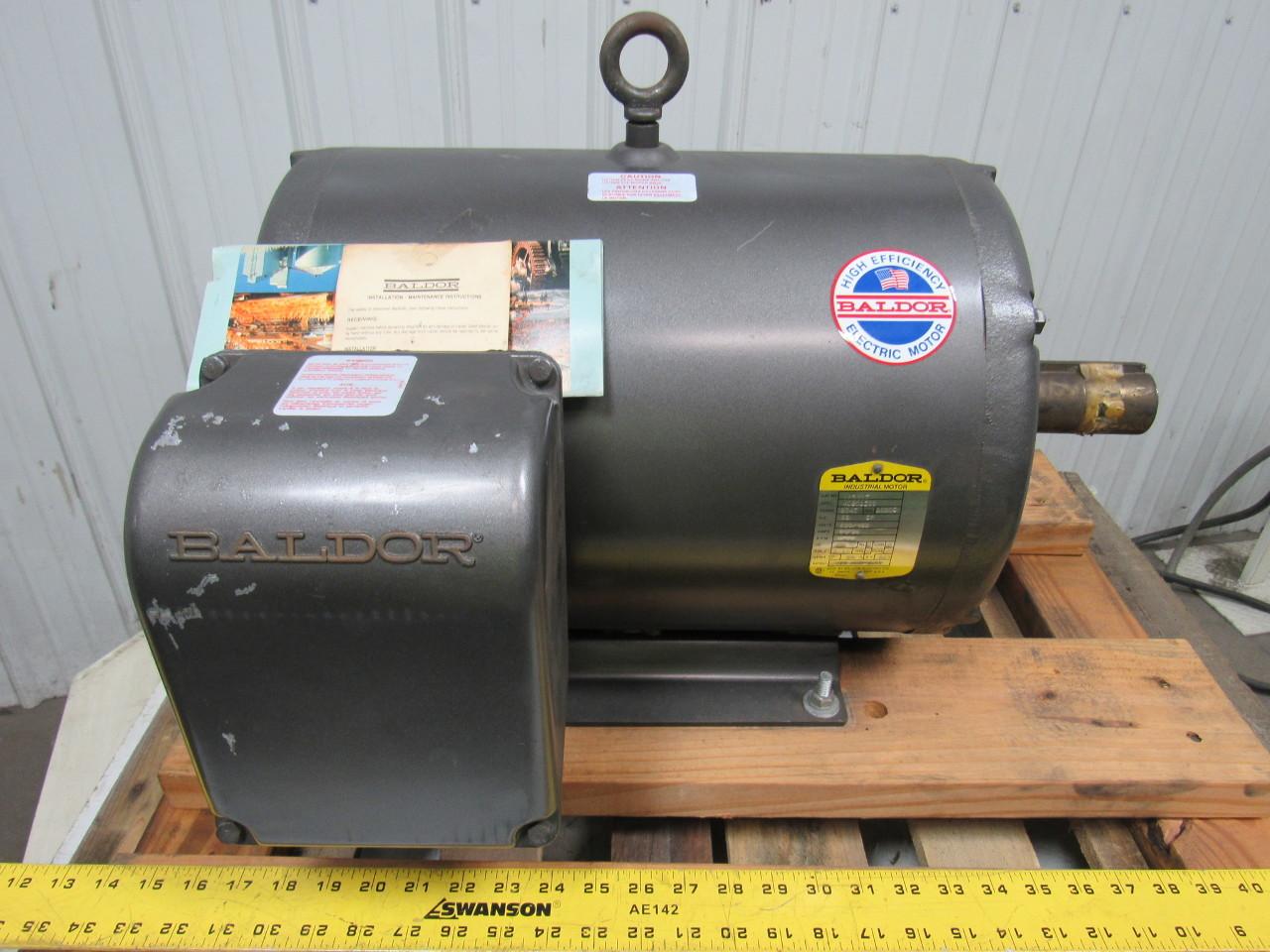 Baldor M2531t 25 Hp Ac Electric Motor 230 460v 1760 Rpm