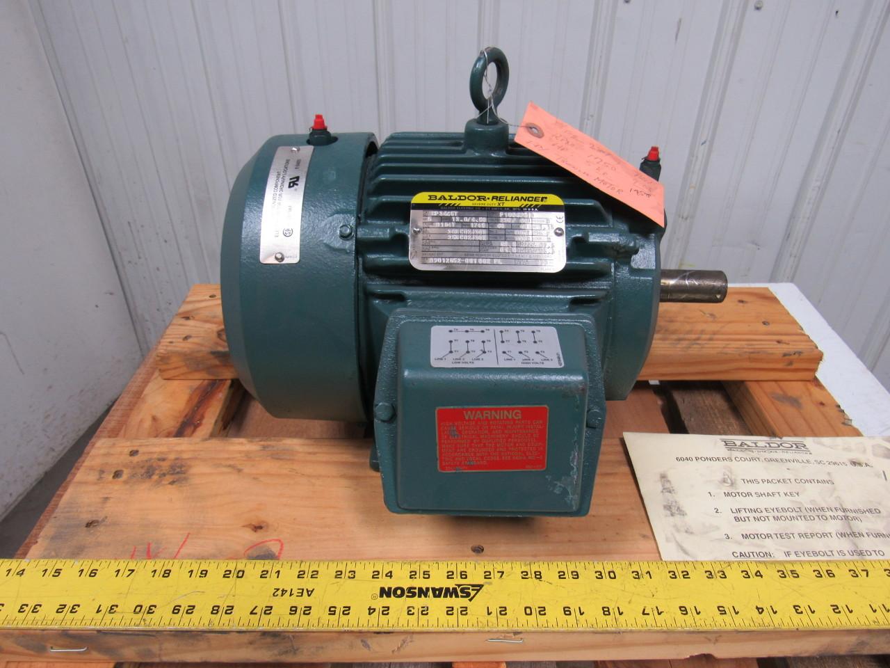 Baldor Cp3665t 5 Hp Ac Motor 208 230 460v 3ph 60hz 1750rpm
