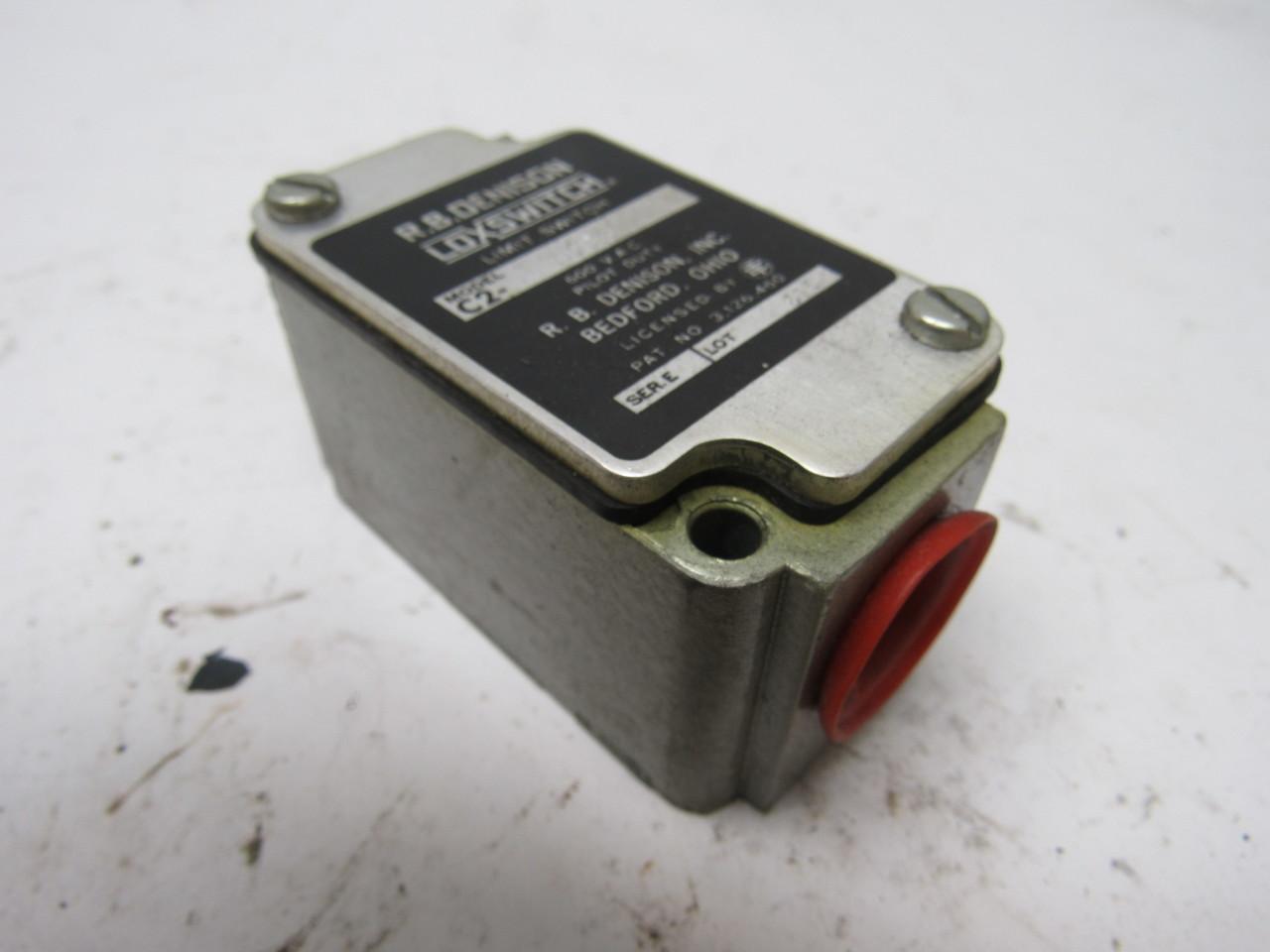 R B Denison C2 Jd4 Loxswitch Limit Switch 600v Pilot Duty