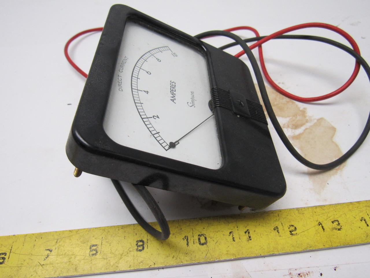 Simpson Panel Meter : Simpson model dc current panel meter ebay