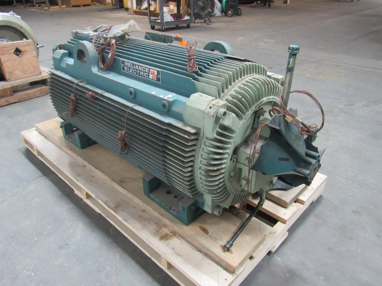 Reliance electric duty master 900 hp ac motor 1791rpm 4000 for 4000 rpm dc motor