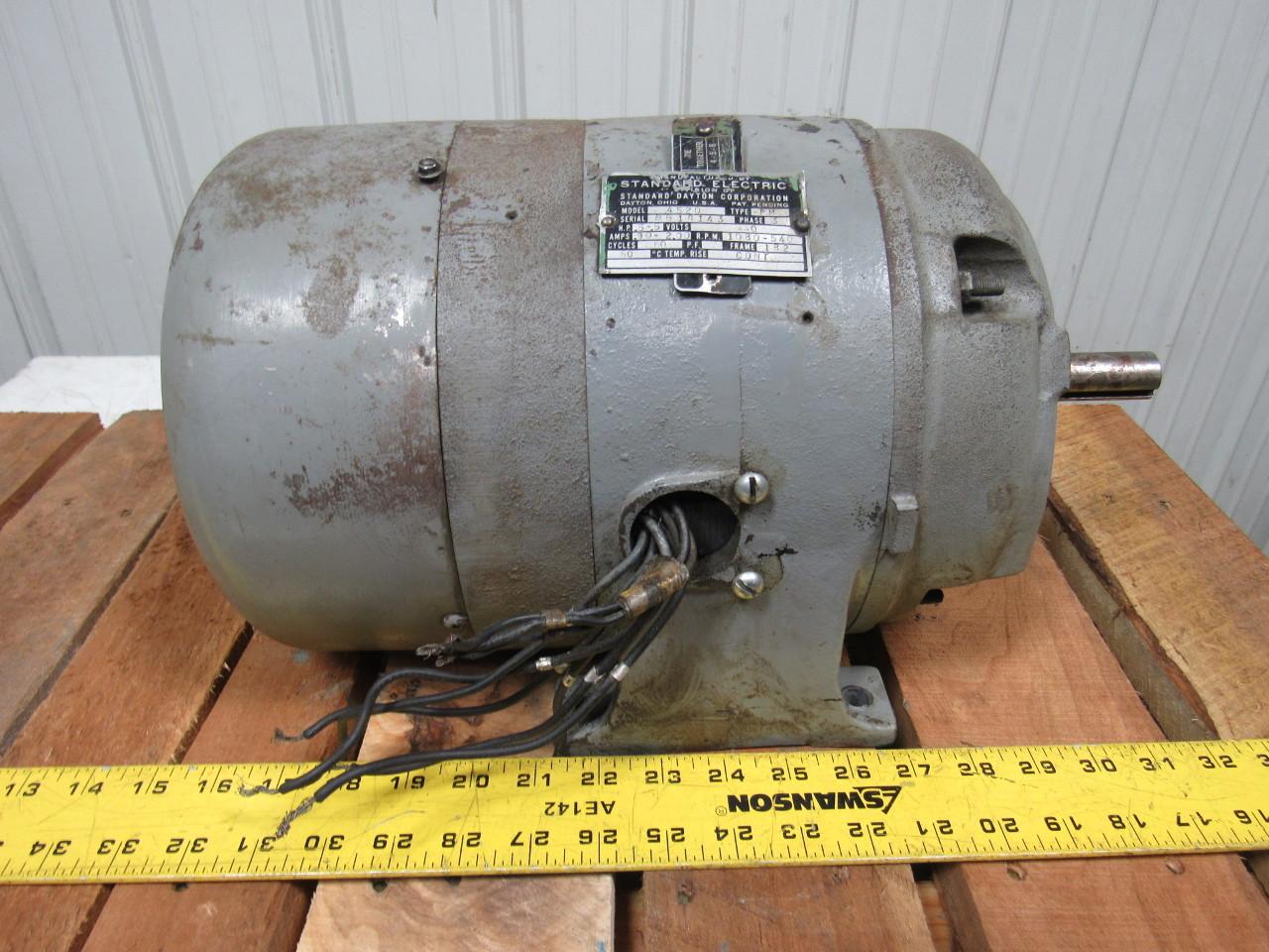Standard Electric Dayton 4520 Vintage 3 Phase 440v 1 2hp
