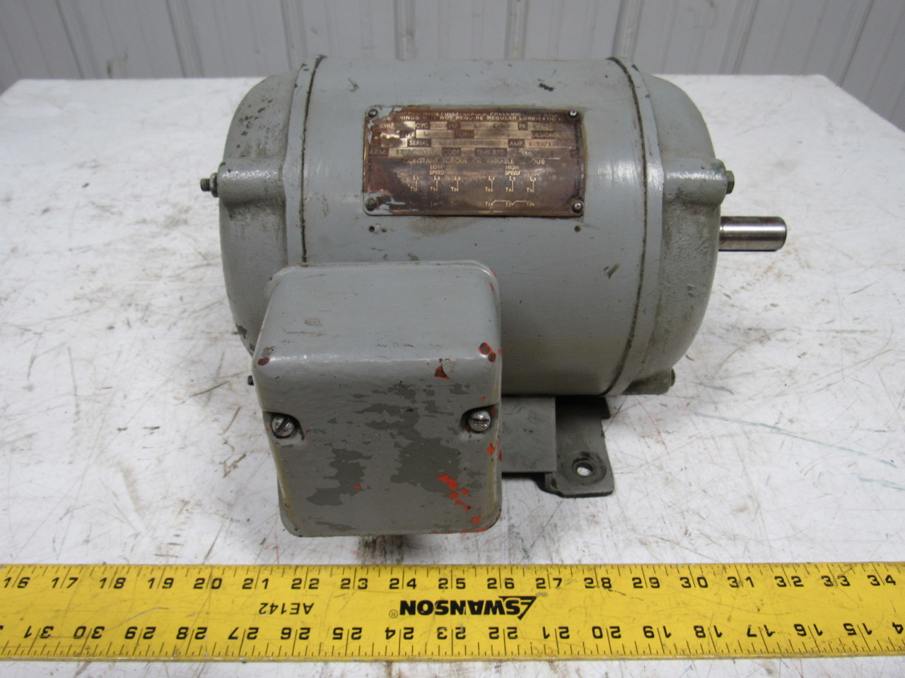 Robbins myers type lb vintage 440v 3 ph 184 frame 7 8 for Robbins and myers replacement motors