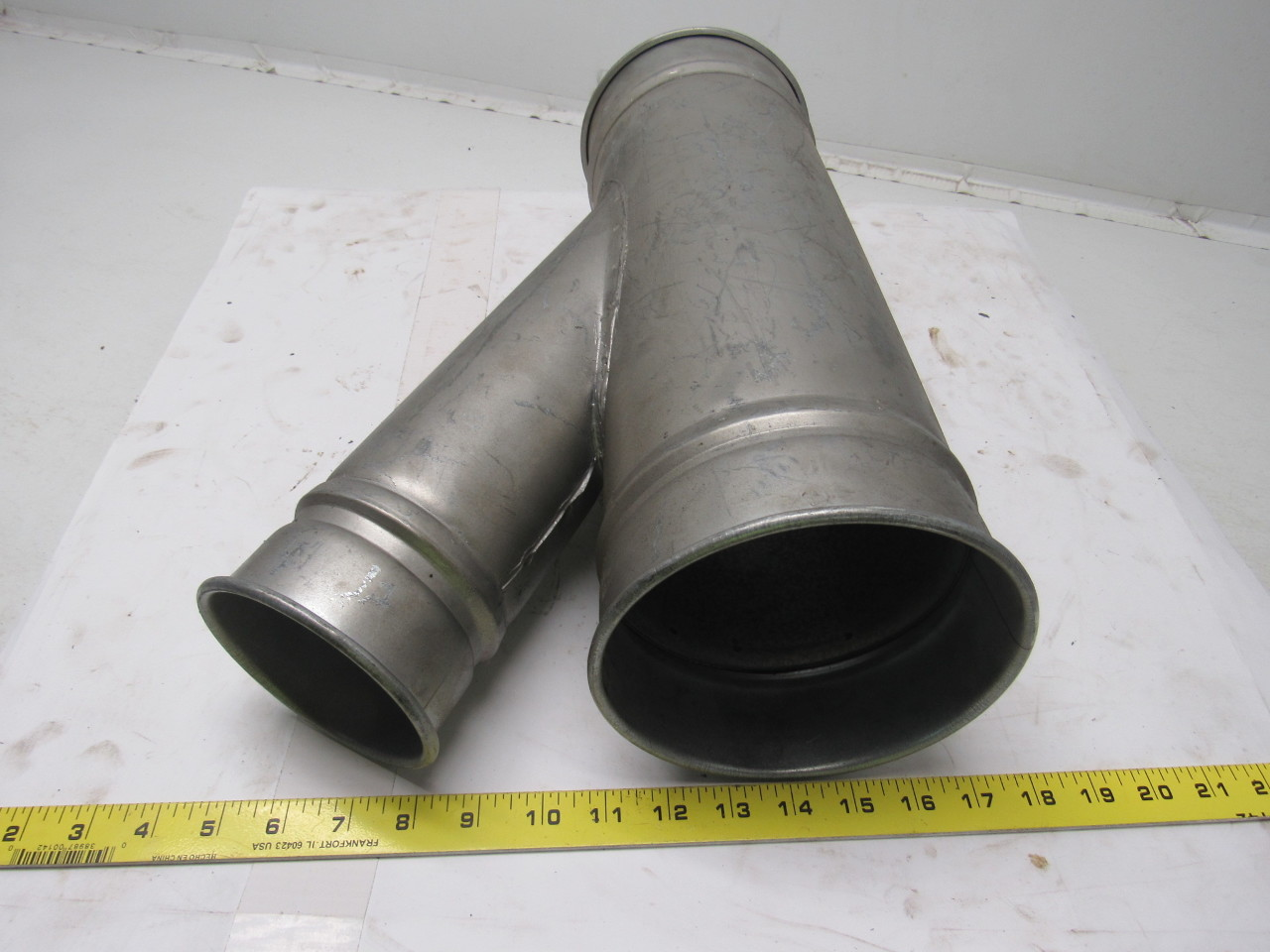 Hvac Duct And Fittings : Hvac duct y branch off fitting dust collector quot x