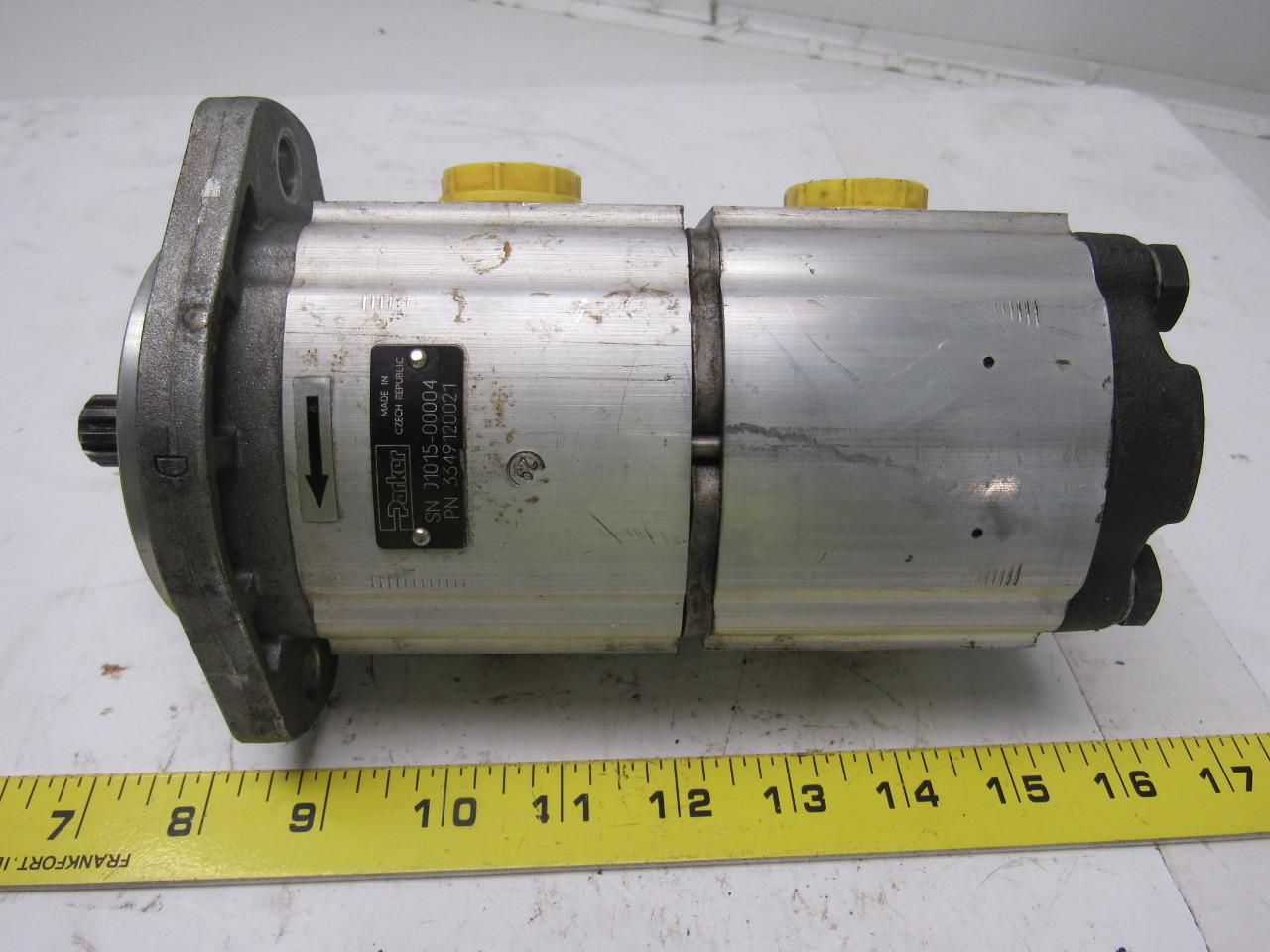 Parker 3349120021 double hydraulic pump ebay for Parker pumps and motors