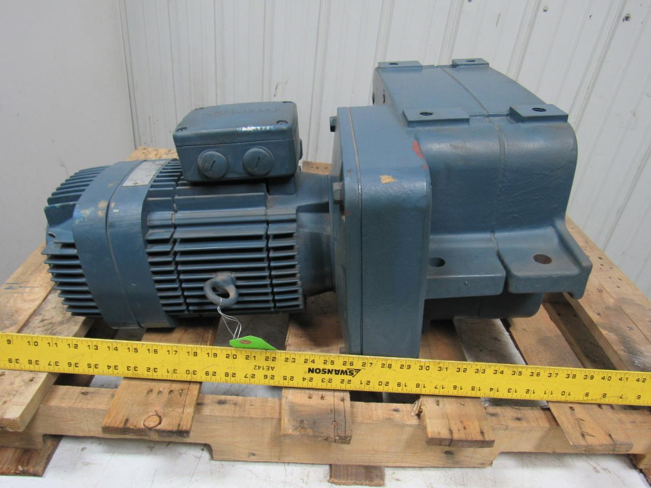 Mannesmann Demag Af12 M01 20 1 Overhead Crane Offset Gear Motor 3 Hollow Shaft Ebay